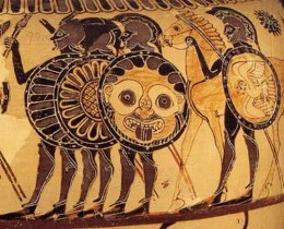 The hoplite, main battle force of ancient Greece