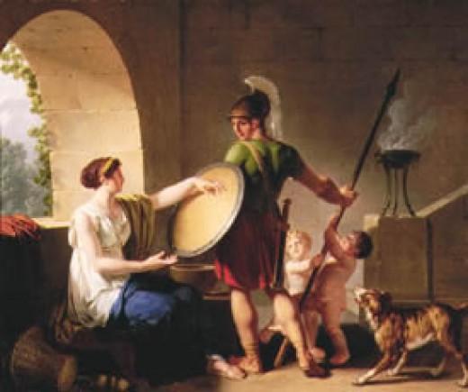 A Spartan mother