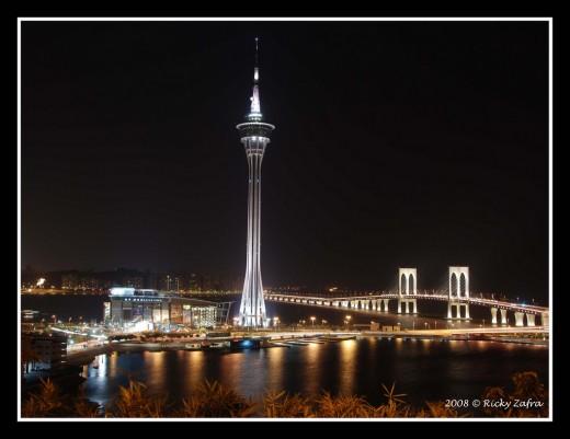 Macau Tower and Sai Van Bridge