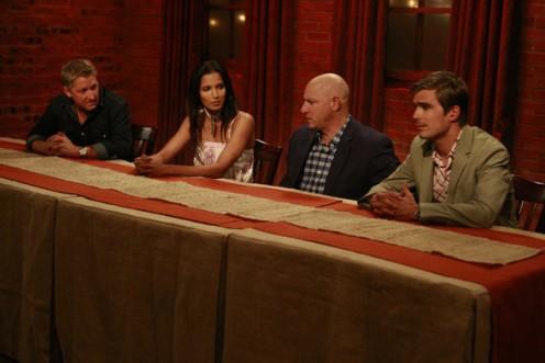 The judges table: Tim, Padma, Tom and Hugh