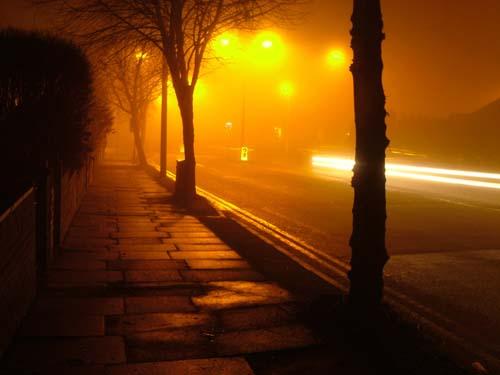 As I walk through a dark alley at midnight