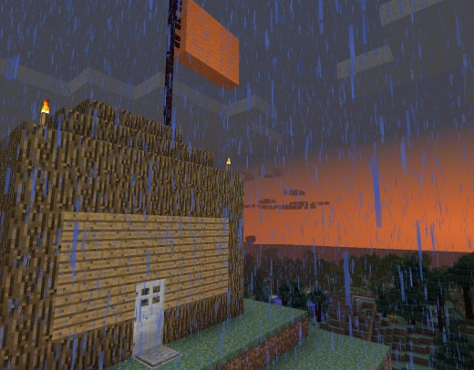 Your unassuming starting house, the beginning of your grand Minecraft adventure.