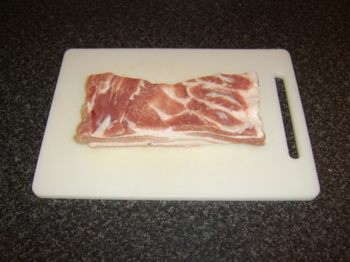 A piece of pork belly ideal for stuffing, rolling and roasting