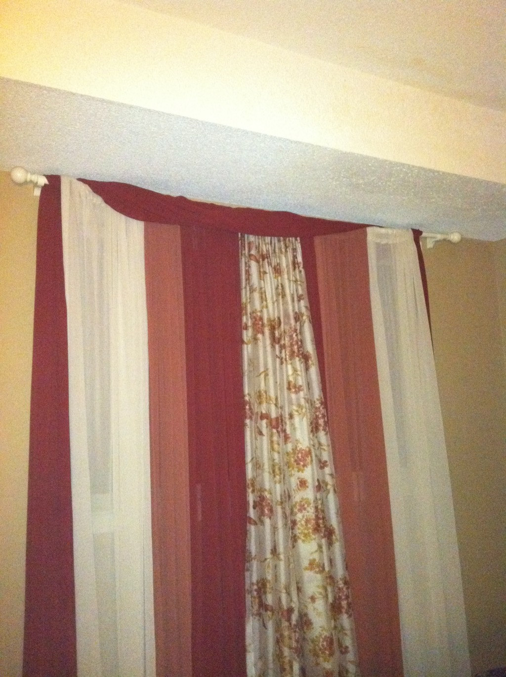 Sheer Panels Make Inexpensive No Sew Window Curtains Or