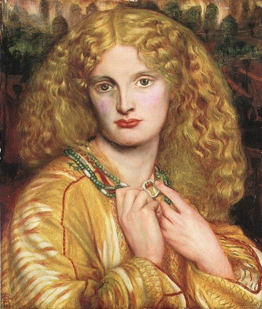 Helen of Troy, by Dante Gabriel Rossetti, 1863