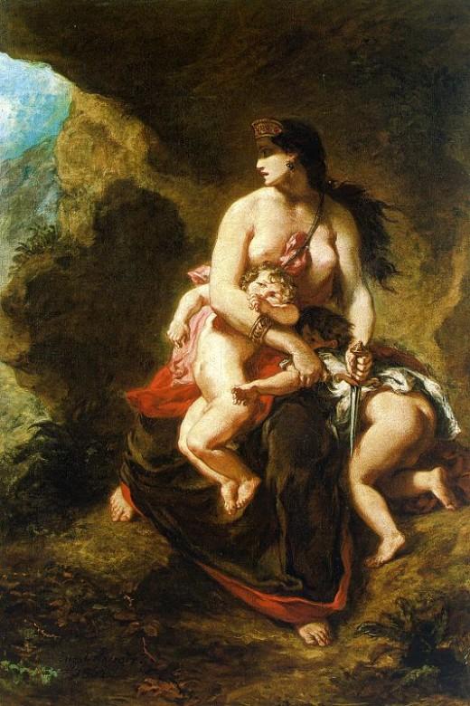 Medea, by Eugene Delacroix, 1838