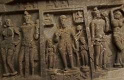Karla Cave Sculptures on the Wall