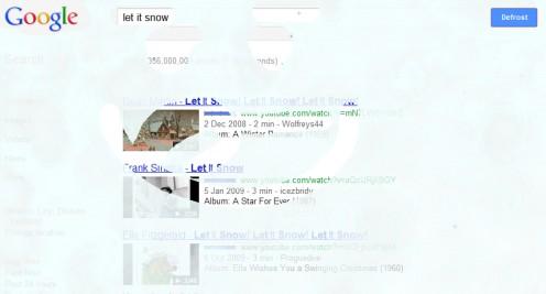 Just let Google Snow!