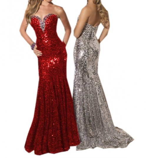 Ebays Red Sequins Prom Evening Dress