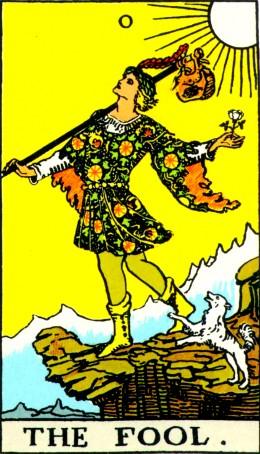 The Fool--First Card of the Tarot Major Arcana
