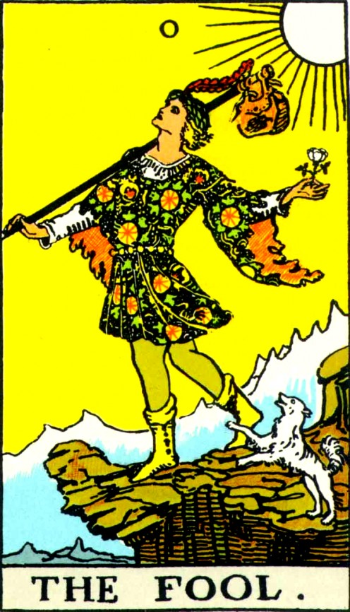 The Fool--First Card of the Tarot Major Arcana