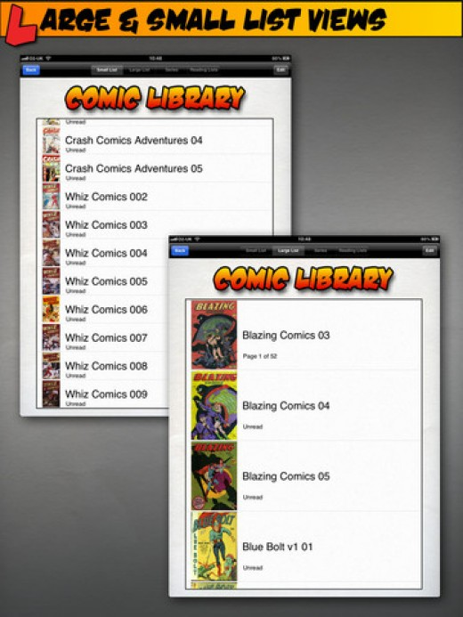 Comic Reader List Views