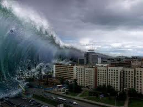 I suspect that most of the flooding is due to tsunamis and earthquakes, combined with erratic weather.