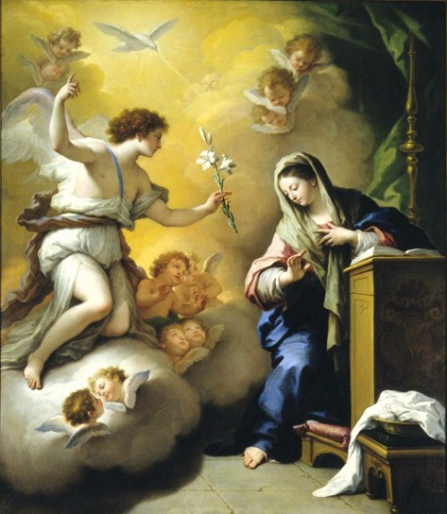 """The Annunciation"" - by Paolo de Matteis (1712)"