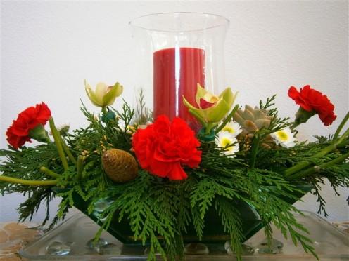 Candle in a hurricane with fresh western red cedar fir.