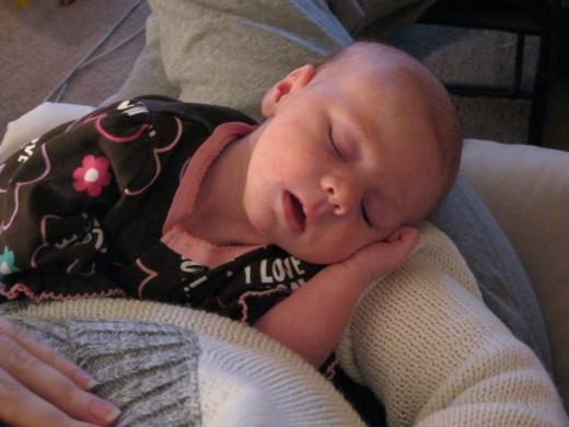 Sleep Achieved on Mommy!