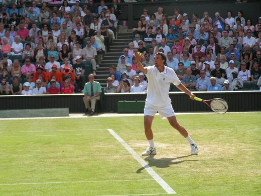 Goran's famous serve is probably second to none.  He was the only wild card player to win the Mens Singles at Wimbledon in 2001, with only 29 years old.