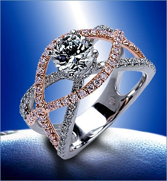 One of Mark Silverstein's gorgeous gossamer collection engagement rings.