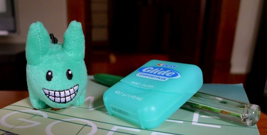 Mr. Happy Tooth and one of his weapons.