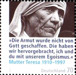 Mother Teresa stamp from Germany