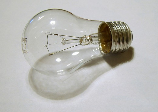 An incandescent bulb
