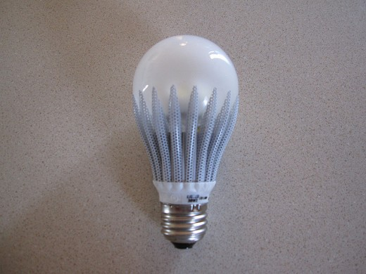 An LED bulb, they will be fast replacing the conventional type of bulbs in the market.