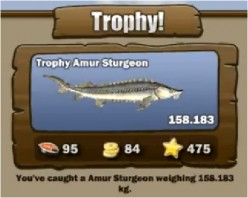 How to catch Unique Amur Sturgeon on Go Fishing Facebook Game