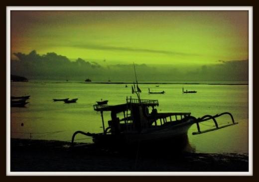 Sunset at Jungut Batu Beach.