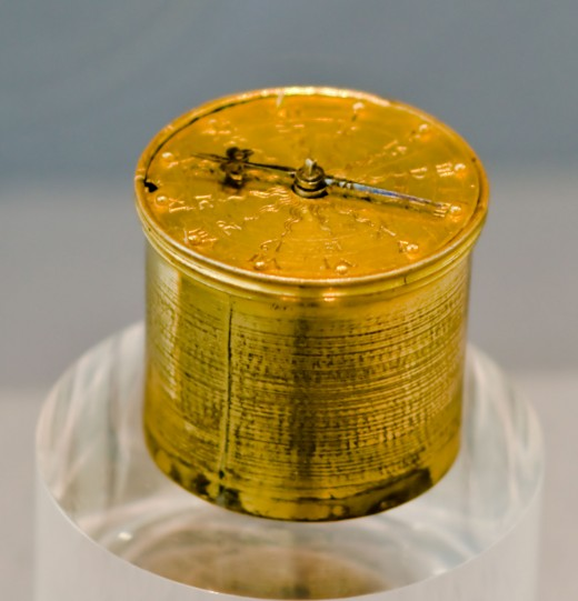This is a Nuremberg Egg spring clock, which is one of the earliest made clocks.
