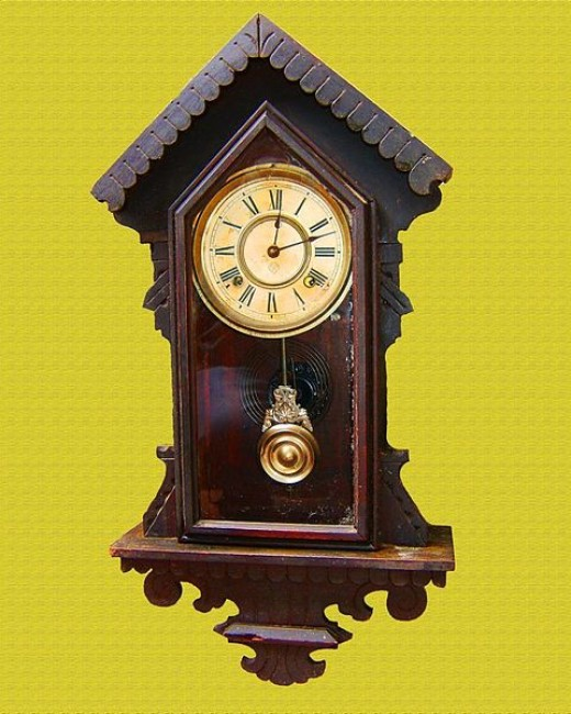 A typical pendulum clock.