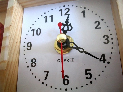 Typical Quartz wall clock.