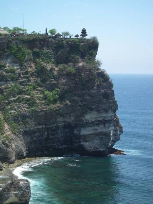 Uluwatu Temple on the cliff