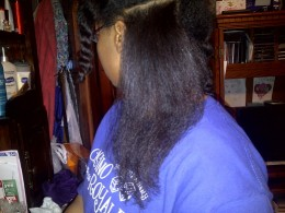 Flat ironed Hair