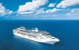 """Here is the Ship we had our first Cruise to New Zealand the""""Sun Princess"""" in all her glory"""