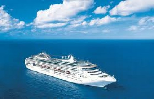 "Here is the Ship we had our first Cruise to New Zealand the""Sun Princess"" in all her glory"