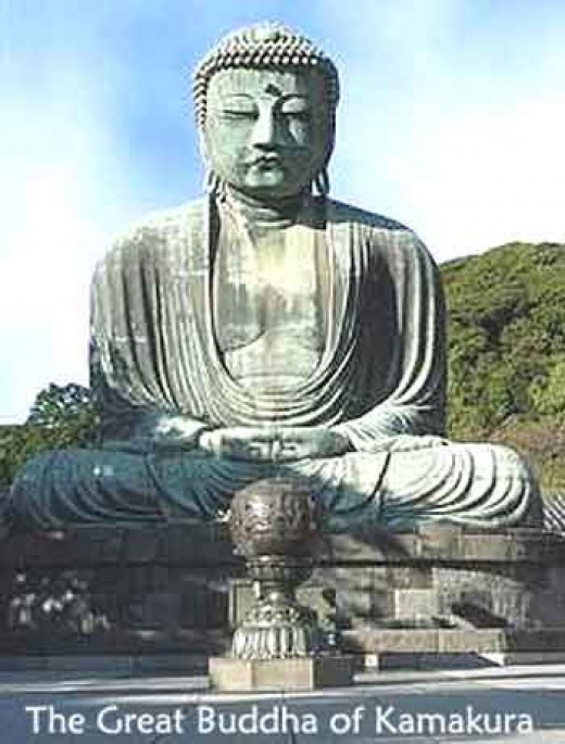 This is Amida Butsu, or the Great Buddha.