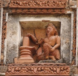 A Shaivite priest (Mohanto) worshiping Lord Shiva