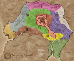 Cyrodiil cultural regions. Click to view full size.