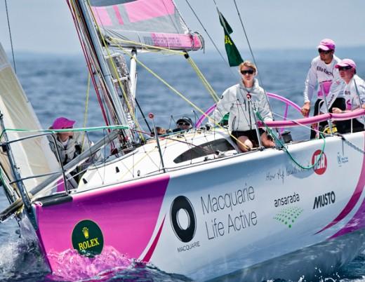 Jessica Watson on Board her yacht Elle Bache