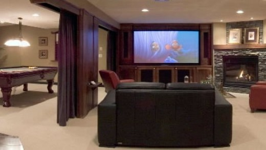 Home theater with HDTV