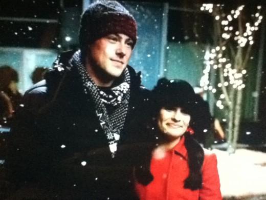 Rachel and Finn get in the true Christmas spirit.