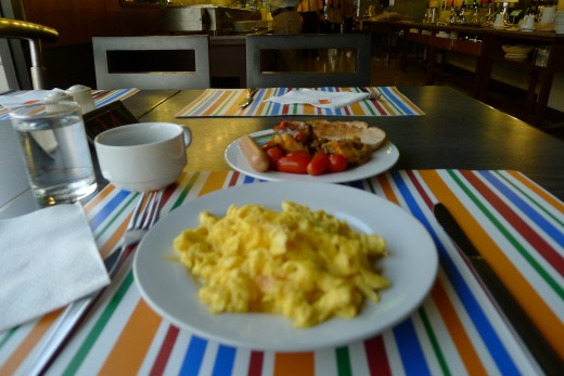 A plate of cooked to order scrambled eggs saved the day!