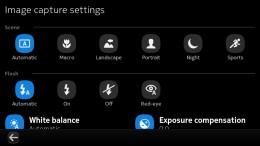 Camera settings N9