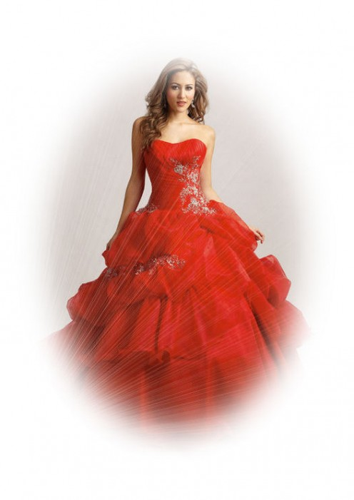 The Unique Bride In A Red Wedding Dress