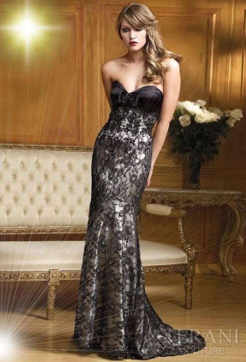 Black Lace Wedding Gown Ebay