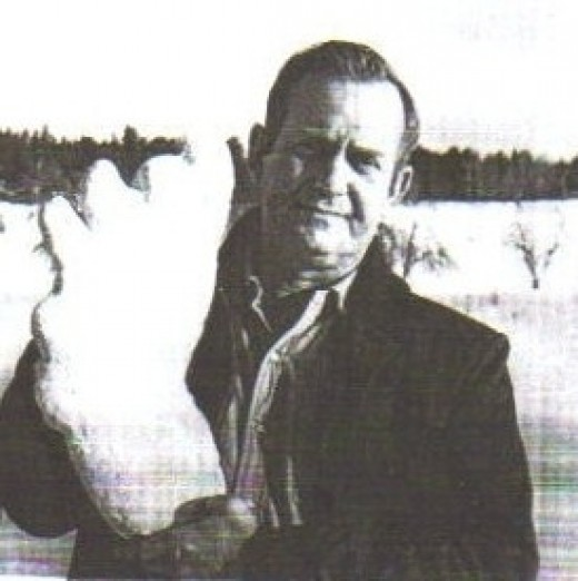 Ivan Marx with Cast of Bigfoot Tracks  from The Bossburg Cripple