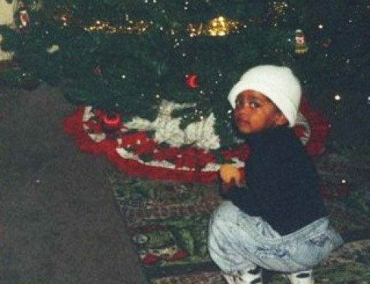 These pics are from his first 2 Christmases years ago.