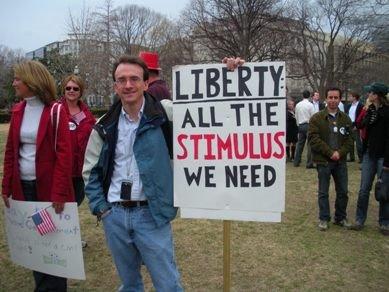 Tea Party protestor