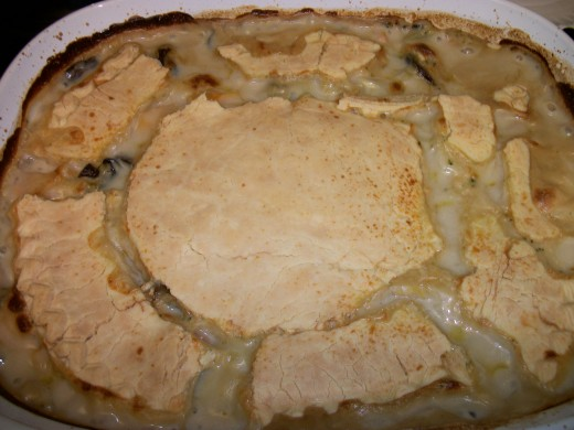 Veggie Pot Pie hot out of the oven