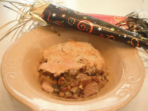 Black-Eyed Pea Pot Pie with Sausage and Chicken